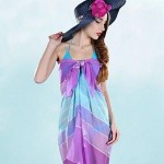European Style Printed Butterfly Sling Beach Scarf