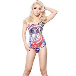 Fashion 3D Print Sexy One-Piece Swimming Suit