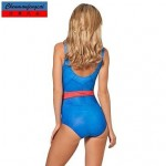 Sexy Elasticated Swimwear Uk For Women Superman Suit Printed Bodycon Jumpsuit Hot Bikini Top One Piece
