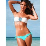 2019 Fashion Rhinestone Embellished With Chest Pad And Shoulder Strap Swimsuit Uk For Women Two-Piece Bikini Swimwear Uk For Women For Women