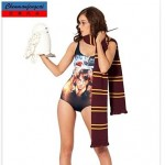 Sexy Harry Potter Elasticated Bathing Suit Printed Bodycon Bikini Top