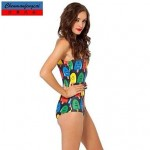 CMFC庐Pirate Ice Lolly Sexy Swimming Wear Printed Bodycon Jumpsuit HotBikini