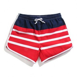 Striped Surf Board Shorts Quick Dry Beach Swimwear Uk For Women Pants Polyester