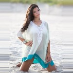 Price promotions Embroidered Neckline Beach Cover Up 2019 new swimsuit fashion style swimwear