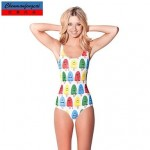 Sexy Ice Lolly Bathing Suit Printed Bodycon Jumpsuit HotBikini