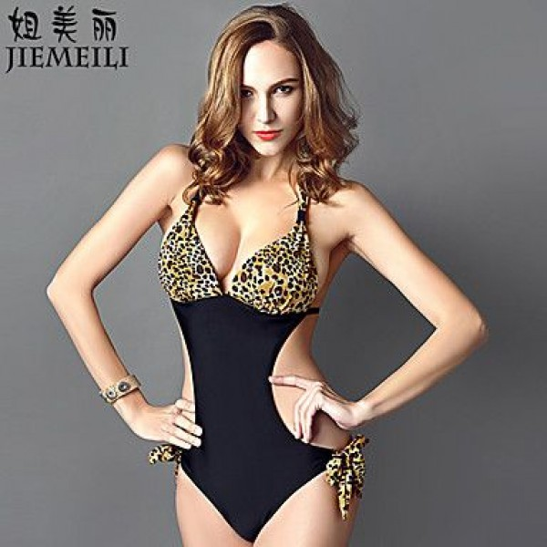 JIEMEILI Push-up Animal Halter One-pieces (Cotton Blends)