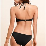 Push-up/Wireless/Padded Bras Solid/Bandage Halter One-pieces (Polyester/Spandex)