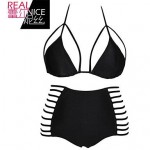 Padded Bras Solid Halter Tankinis (Polyester)