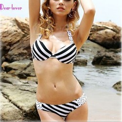 Push Up Padded Bras Underwire Bra Floral Bandage Halter Bikinis Polyester Spandex
