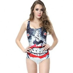 High Elastic Print Swimsuit Uk For Women One Size