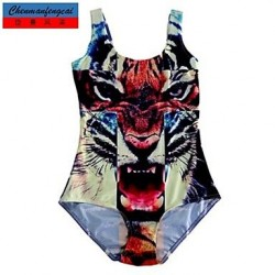Swimwear Uk For Women Fashion 3D Tiger Print Sexy Bodycon One-piece Swimsuit Uk For Women Casual Siamesed Underwear