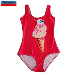 Swimwear Uk For Women Fashion Red Ice Cream Print Sexy Bodycon One Piece Swimsuit Uk For Women Casual Siamesed Underwear