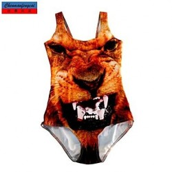Swimwear Uk For Women Fashion 3D Monster Print Sexy Bodycon One-piece Swimsuit Uk For Women Casual Siamesed Underwear