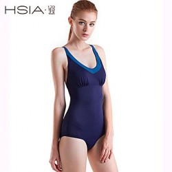 HSIA Wireless Solid/Bandage Straped One-pieces (Polyester)
