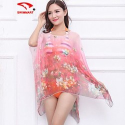 Floral Halter Cover-Ups (Polyester)SM7A04
