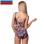 Sexy Stretchy Comic Swimming Wear Printed Bodycon Jumpsuit One Piece