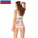 Elasticated Sexy Bathing Suit Printed Bodycon One Piece HotBikini