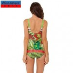 Sexy Posion Ivy Swimwear Uk For Women Printed Bodycon Jumpsuit HotBikini Top