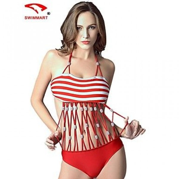 Nylon/Polyester/Spandex Push-up/Wireless/Padded Bras Halter Bikinis/Tankinis/Swimming Accessories/Cover-Ups SMZM08