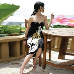 Silk Halter Bandeau Swimming Accessories Cover Ups MSSY12