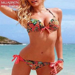 Sexy Bikini Swimwear Uk For Women Hot Spring Steel Prop Gather
