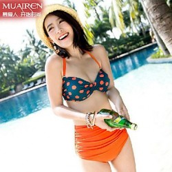 New Retro Polka Dot Bikini WaiSt SwimSuit Sexy Swimwear Uk For Women