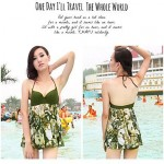 Woman fashion sexy skirt green swimming suit