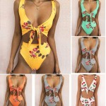Two Sided Floral Printed High Waist Two Piece Bikini