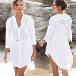 Shirt Sun Protective Beach Short Skirt Women Swimwear Beach Cover Up Cardigan