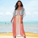 Chiffon Beach Cover Up Beach Long Dress Loose Plus Size Long Robe Holiday Dress Bikini Beach Cover Up Women