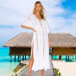 Chiffon Lacework Beach Cover Up Holiday Sun Protective Beach Long Dress Swimwear Bikini Women