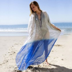 Chiffon Loose Plus Size Beach Cover Up Beach Long Dress Long Robe Holiday Dress Bikini Beach Cover Up Women