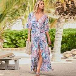 Long Dress Loose Beach Dress Holiday Sun Protective Long Dress Bikini Beach Cover Up Women Swimwear