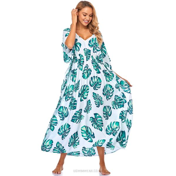Beach Dress Loose Plus Size Long Dress Bikini Swimwear Beach Cover Up Sun Protective Shirt Holiday Long Robe Women
