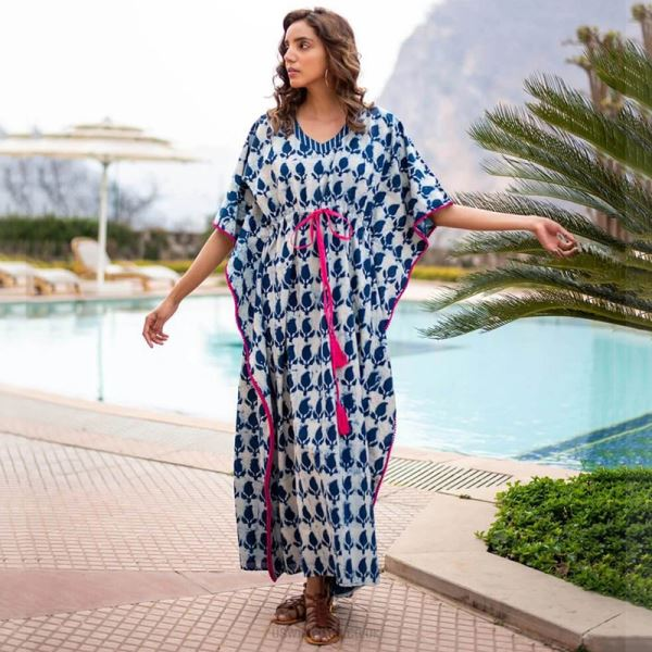 Beach Dress Loose Plus Size Long Dress Bikini Swimwear Beach Cover Up Sun Protective Shirt Women
