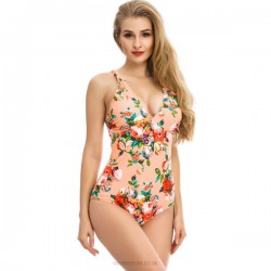 Printing One Piece Sexy Swimsuits For Big Girls Plus Size Fat Women One Piece Swimwear
