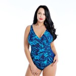 One Piece Plus Size Swimsuits For Big Girls Fat Swimwear Women Printing Swimsuits