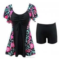 Swimsuits For Big Girls Fat Plus Size One Piece Swimwear Women Two Piece Boxer Swimsuits
