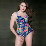 Women Swimwear Steel Ring Floral One Piece Swimsuits For Big Girls Plus Size Swimwear Women