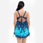 Blackless Lace Up Printing Swimsuits For Big Girls Plus Size Two Piece Dress Boxer Women Swimwear