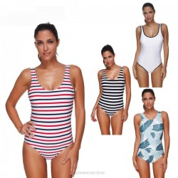 Classical Swimsuits Sexy Stripe One Piece Swimwear