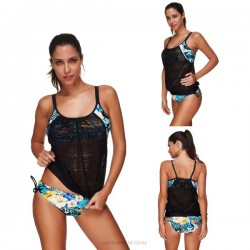 Printing Sport Sexy Hollow Out Two Piece Swimwear