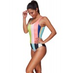 Classical Swimsuits Sexy Colorful One Piece Swimwear