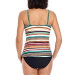 Colorful Printing Cover Belly Tankinis Two Piece Swimwear