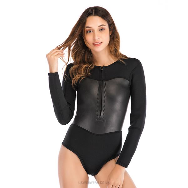 2Mm One Piece Long Sleeves Diving Suit Waterproof Warm Winter Swimming Diving Suit Swimwear Womens
