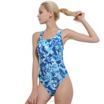 Womens One Piece Swimwear Women Boxer Professional Sport Skinny Cover Belly Tankinis Plus Size Swimsuits