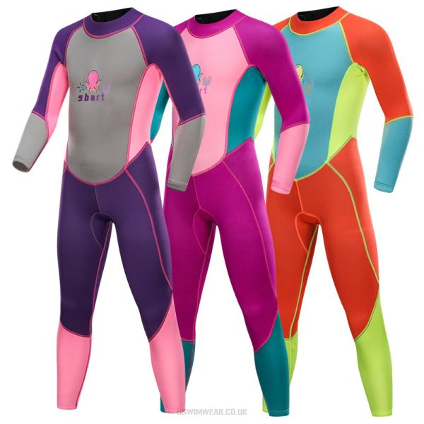 Children Sun Protective Swimwear Long Sleeves Snorkeling Suit Girl Boy One Piece Swimwear Swimsuits Quick Drying Diving Suit