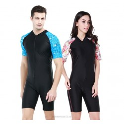 One Piece Short Sleeve Diving Suit Man Womens Sun Protective Jellyfish Suit Professional Swimming Suits 1006A