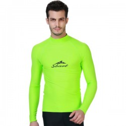 Man Womens Sun Protective Top Long Sleeves Surfing Dive Skin Swimming