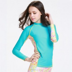 Diving Suit Womens Two Piece Long Sleeves Wetsuit Womens Womens Surf Suit Sun Protective 925